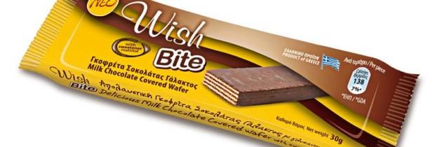 """Σοκολατένια έκρηξη η  νέα γκοφρέτα χωρίς ζάχαρη """"Wish Bite"""" (ελληνικό προϊόν)"""