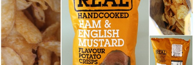 Real Handcooked Ham & English Mustard Flavour Potato Chips