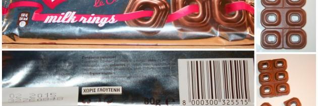 Σοκολάτα γάλακτος Nestle milk rings χωρίς γλουτένη