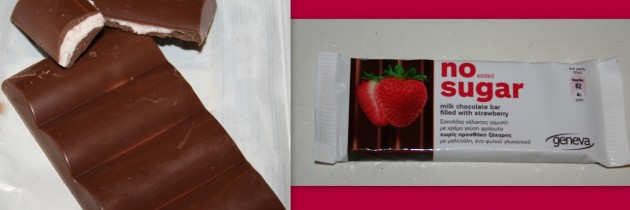 Geneva Σοκολάτα Γάλακτος Γεμιστή με Φράουλα Χωρίς Ζάχαρη